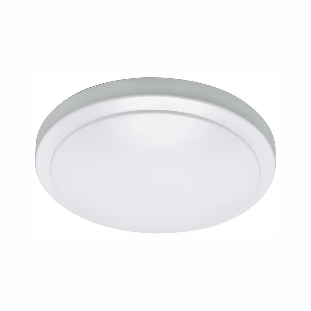 sale retailer ee807 7f76e Commercial Electric 12 in. LED Flush Mount with Customized Motion Sensor  Dimmable 1000 Lumens Direct Wire 4000K Bright White