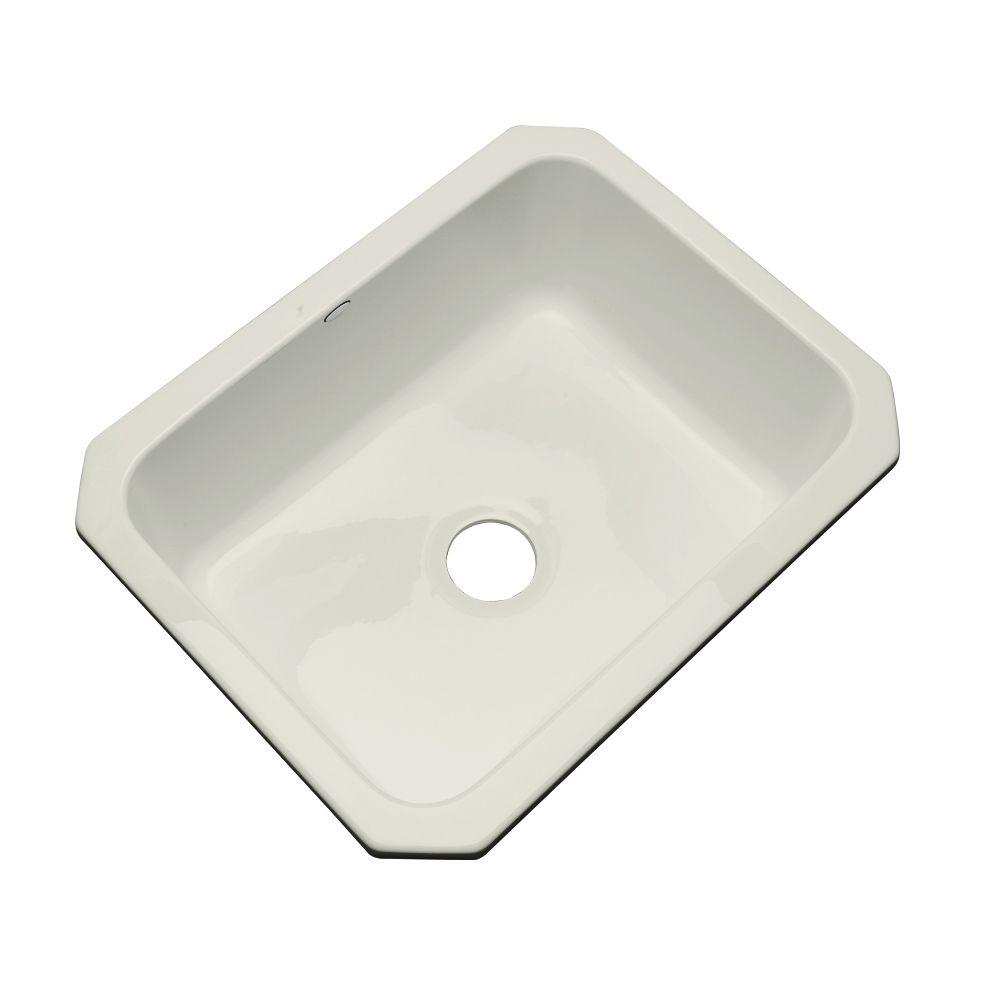 Thermocast Inverness Undermount Acrylic 25 In Single Bowl Kitchen Sink In Tender Grey 22081 Um