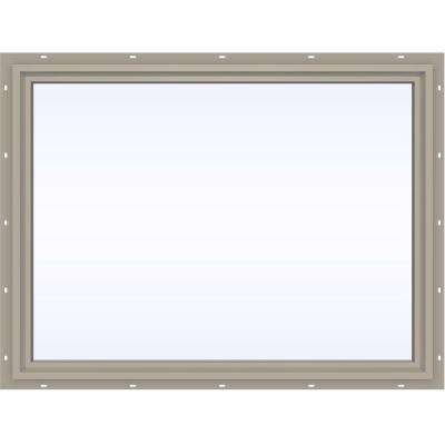 47.5 in. x 35.5 in. V-4500 Series Fixed Picture Vinyl Window - Tan