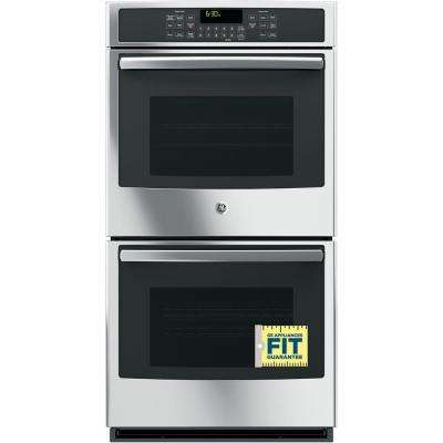 27 in. Double Electric Wall Oven with Convection (Upper Oven) Self-Cleaning in Stainless Steel