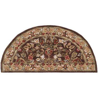 Total Performance Brown/Green 2 ft. 6 in. x 4 ft. Half-Moon Area Rug