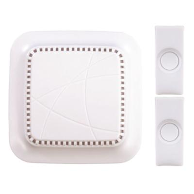 White Plastic Wireless Door Chime Kit