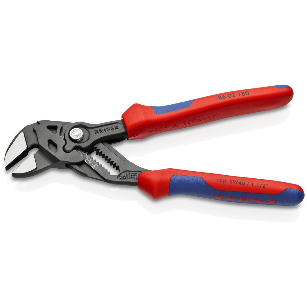 """Knipex 7/"""" /& 10/"""" Pliers Wrench Set Adjustable Wrench with Comfort Grip Handles"""