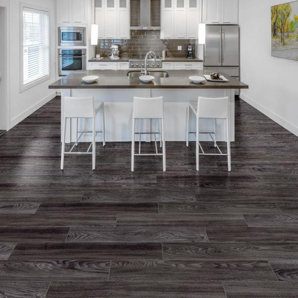 Home Decorators Collection Black Oak 7 5 In W X 47 6 In L Luxury Vinyl Plank Flooring 24 74 Sq Ft S146128 The Home Depot
