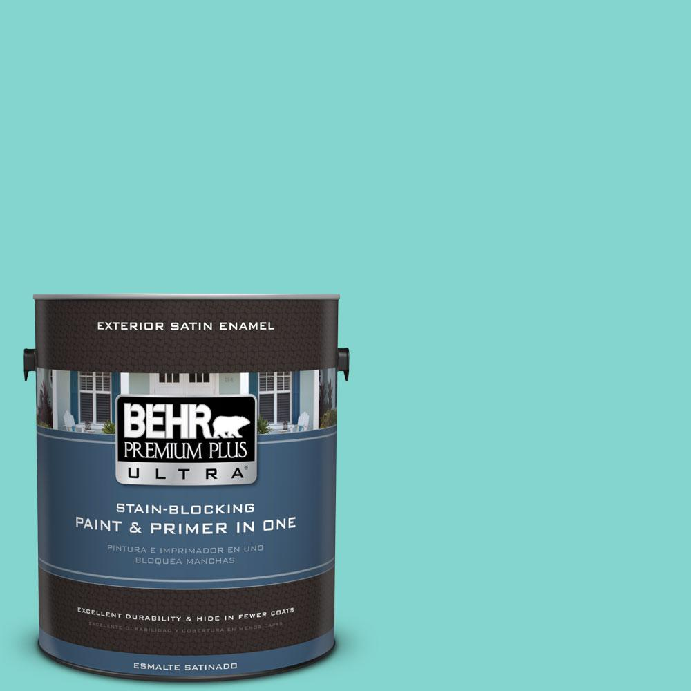 BEHR Premium Plus Ultra Home Decorators Collection 1-gal. #HDC-MD-09 Island Oasis Satin Enamel Exterior Paint