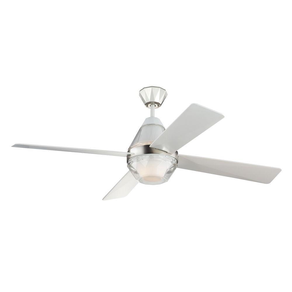 Diamond 52 in. Indoor Polished Nickel Ceiling Fan