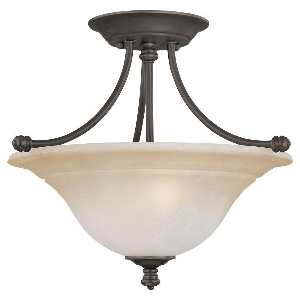 Thomas Lighting Harmony 2-Light Aged Bronze Ceiling Semi