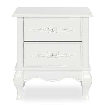 Aurora 2-Drawer Frost Nightstand
