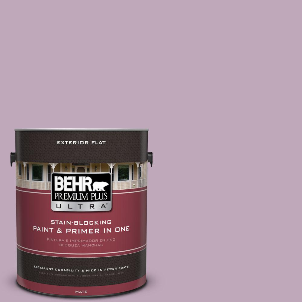 1-gal. #680F-4 Soft Heather Flat Exterior Paint