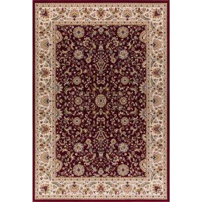 Williams Collection Istanbul Red Rectangle Indoor 8 ft. 9 in. x 12 ft. 4 in. Area Rug