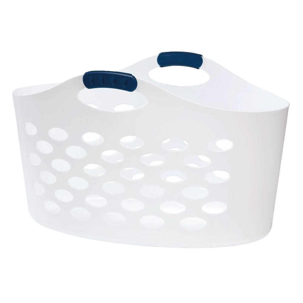 Flex 'N Carry White Laundry Basket