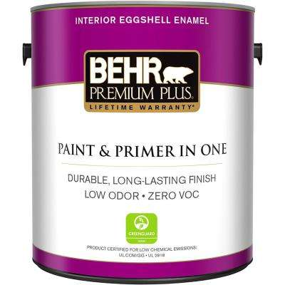 1 gal. Ultra Pure White Eggshell Enamel Zero VOC Interior Paint and Primer in One