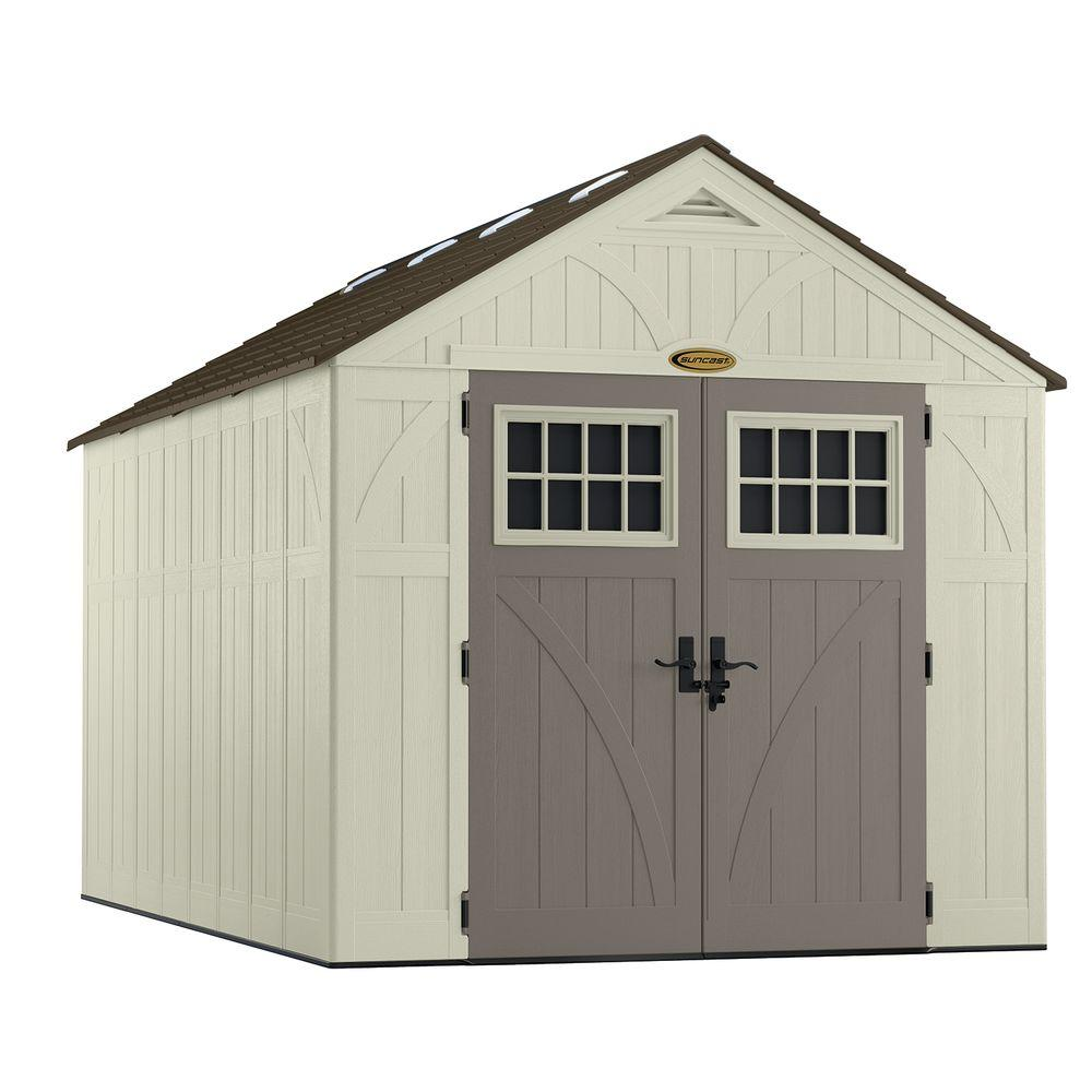 Suncast tremont 13 ft 2 3 4 in x 8 ft 4 1 2 in resin for Garden shed 5 x 4