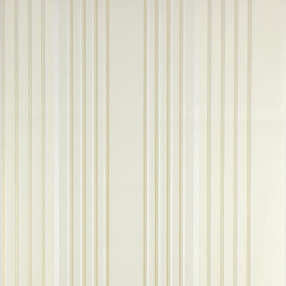 Advantage 57.8 sq. ft. Vickie Cream Stripe Wallpaper 2812-BLW10201