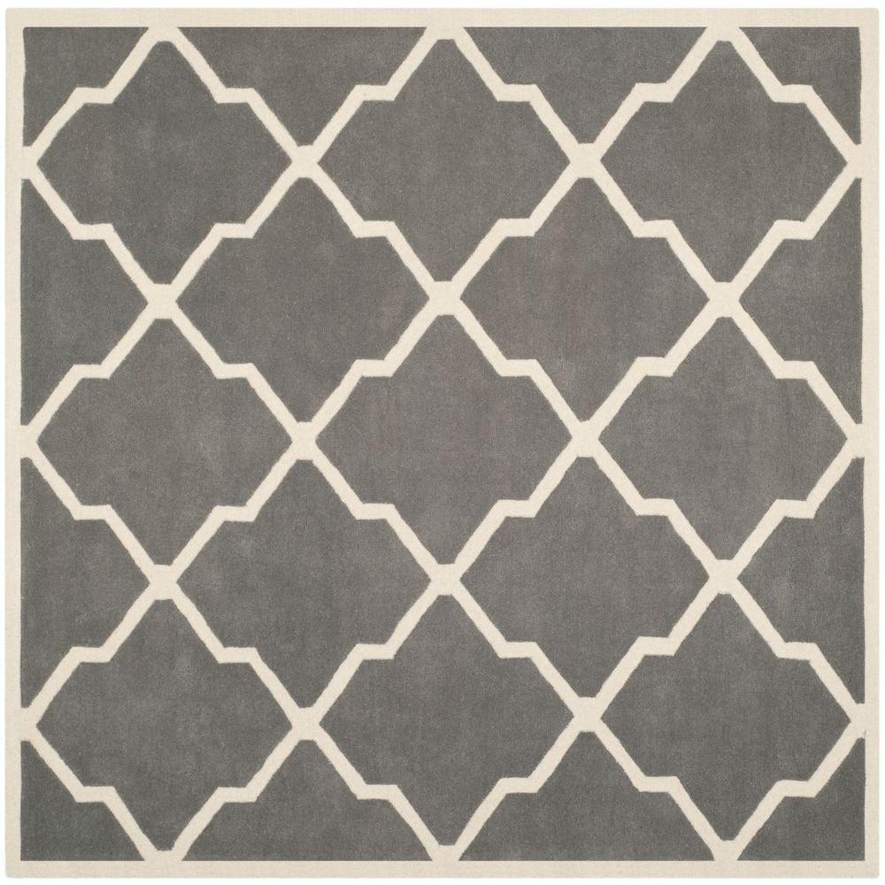Chatham Dark Grey/Ivory 7 ft. x 7 ft. Square Area Rug
