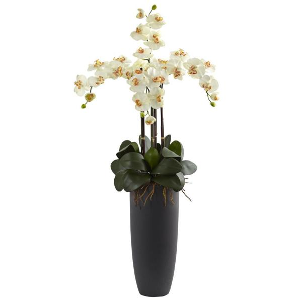 Nearly Natural Phalaenopsis Orchid Arrangement with Bullet Planter 1369-CR