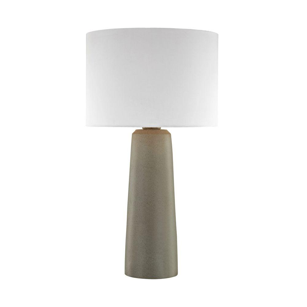 An Lighting 27 In Eilat Concrete Outdoor Table Lamp