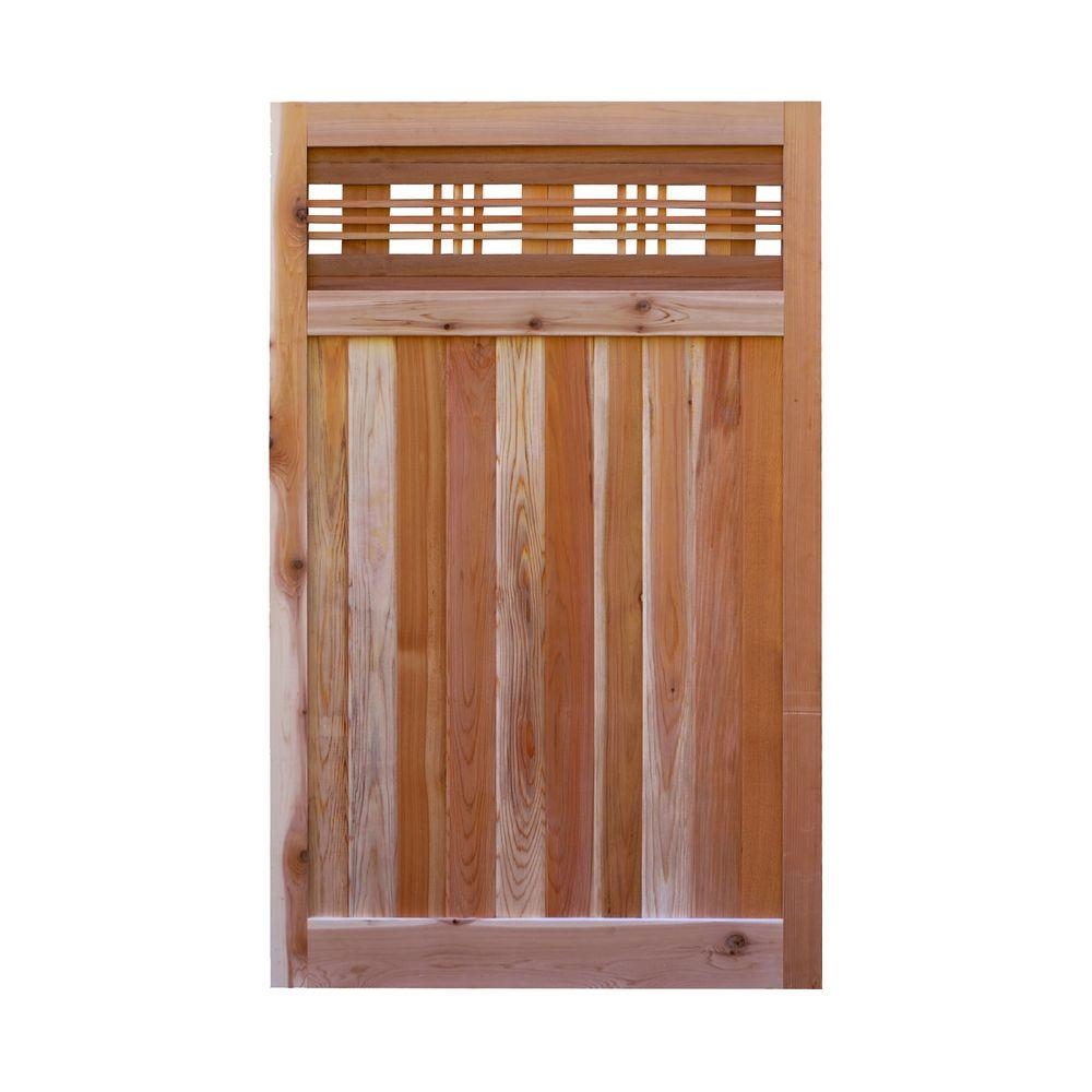3 5 Ft H W X 6 Western Red Cedar Flat Top Horizontal Lattice