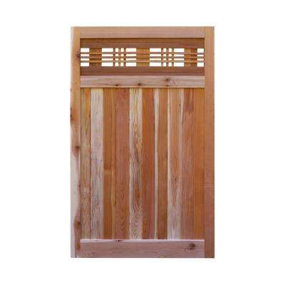 3.5 ft. H W x 6 ft. H H Western Red Cedar Flat Top Horizontal Lattice Fence Gate