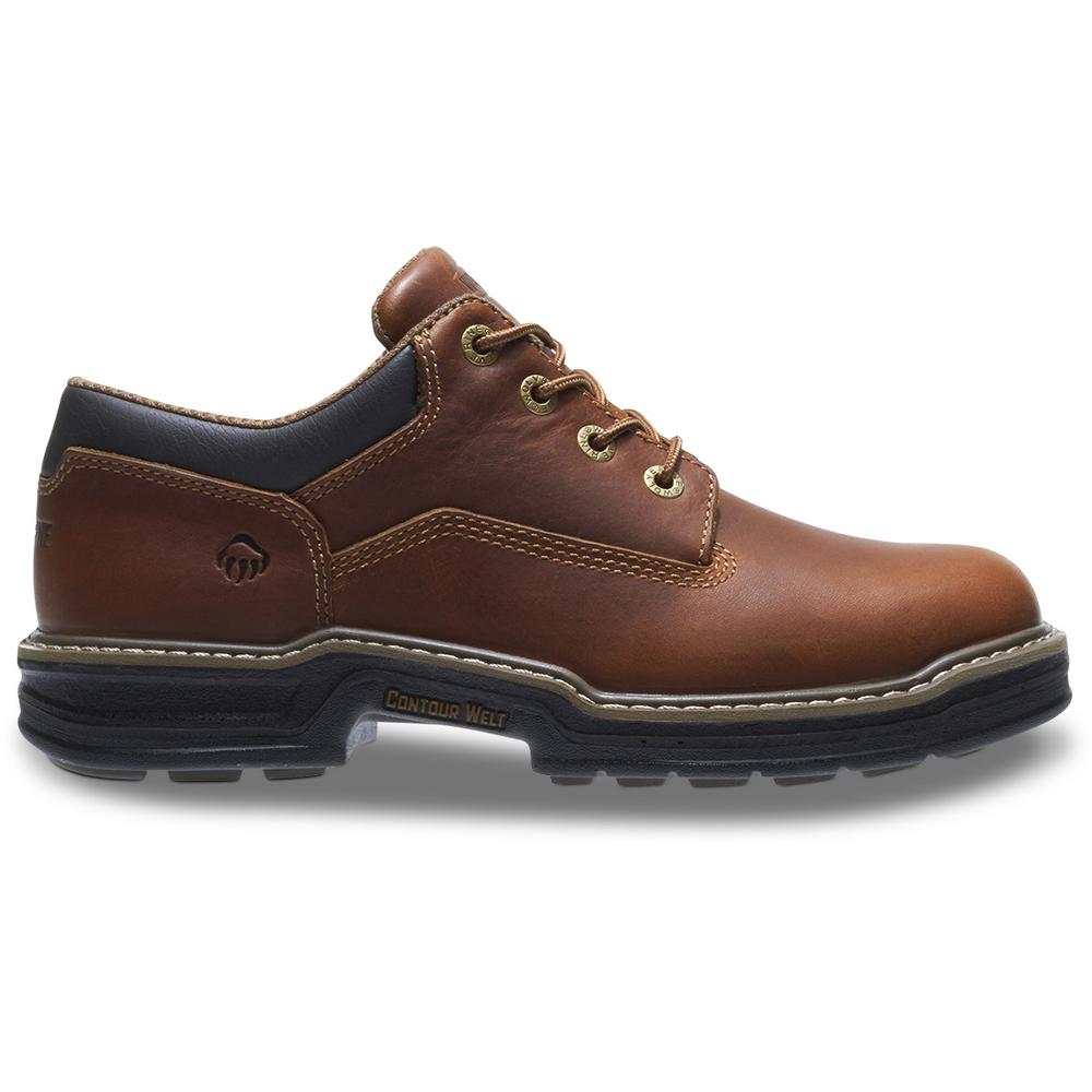 86958b855d2 Wolverine Men's Raider Size 12EW Brown Full-Grain Leather Oxford