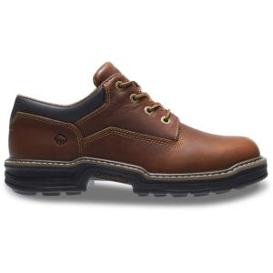 Wolverine Men's Raider Slip Resistant Oxford Shoes Soft Toe Brown Size 13(W) W04818 13EW The Home Depot