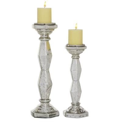 """Tall Glass Candle Holders, Set of 2: 14"""", 18"""""""