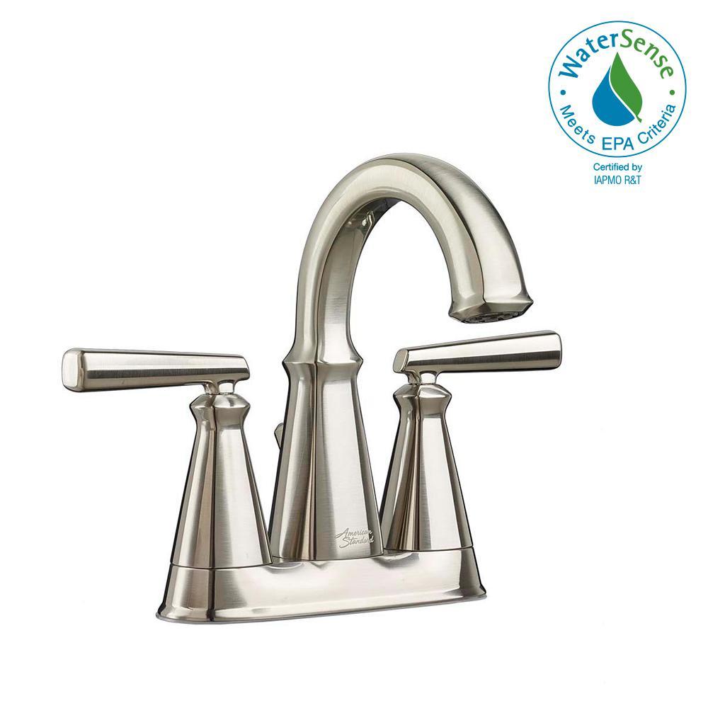 American Standard Edgemere 4 in. Centerset 2-Handle Bathroom Faucet ...