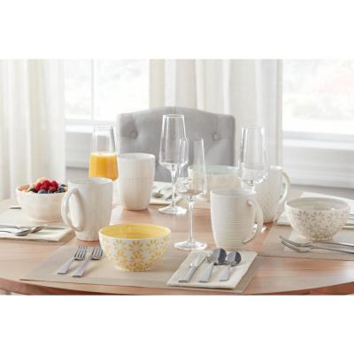 Leyla 8-Piece Hand-Decorated Mix & Match Bowl Set (Service for 8)