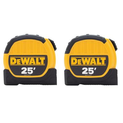 25 ft. x 1-1/8 in. Tape Measure (2-Pack)