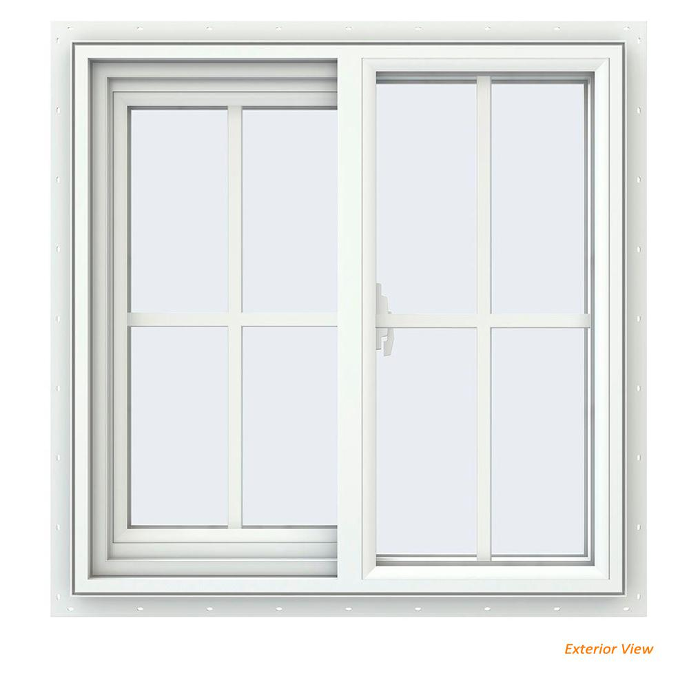 home depot sliding windows egress window jeldwen 235 in v2500 series white vinyl lefthanded