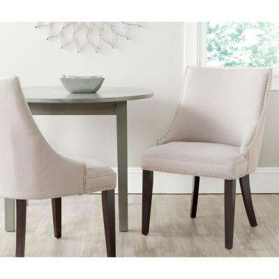 Afton Taupe/Espresso Linen Side Chair (Set of 2)