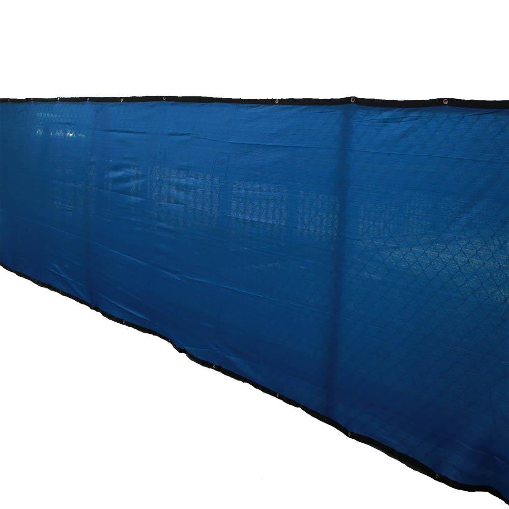 72 in. H x 600 in. W Polyethylene Blue Privacy/Wind Screen