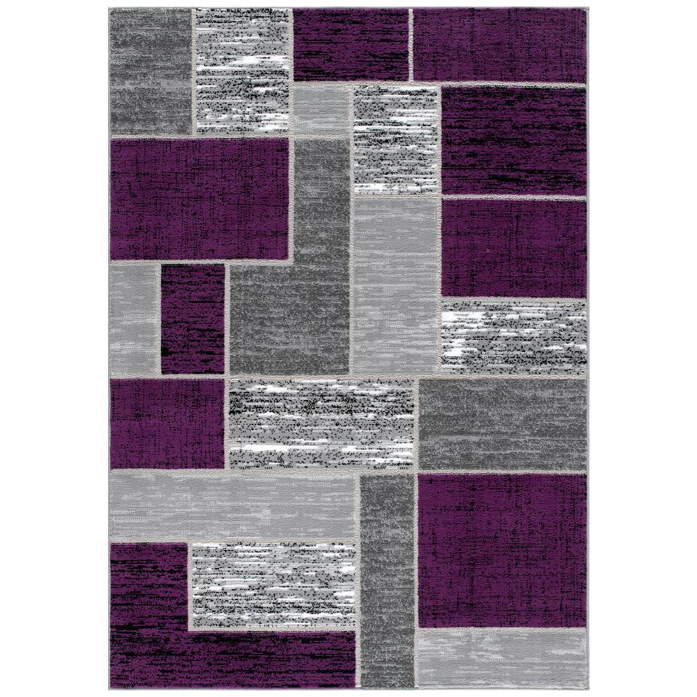 Geometric Purple Polypropylene Area Rugs Rugs The Home Depot