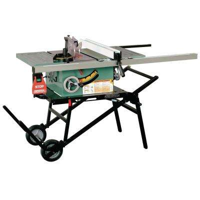 12 Amp 10 in. Industrial Table Saw with Heavy-Duty Portable Stand