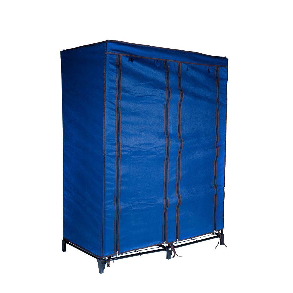 trademark home navy blue portable closet with 4 shelves 82 625214 the home depot. Black Bedroom Furniture Sets. Home Design Ideas