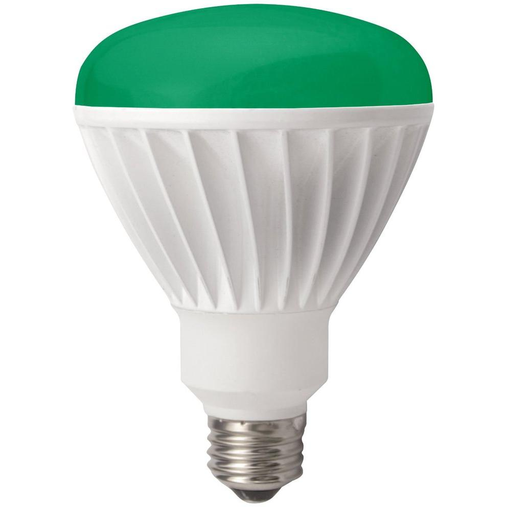 TCP 85W Equivalent Green BR30 Dimmable LED Flood Light Bulb