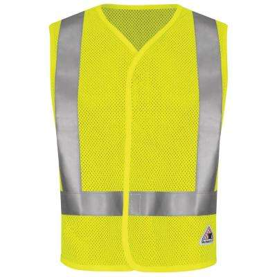Men's 3X-Large Yellow/Green Hi-Visibility Flame-Resistant Mesh Safety Vest