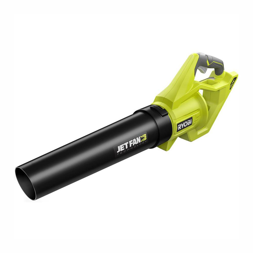 RYOBI 110 MPH 500 CFM Variable-Speed 40-Volt Lithium-Ion Cordless Battery Jet Fan Leaf Blower (Tool Only)
