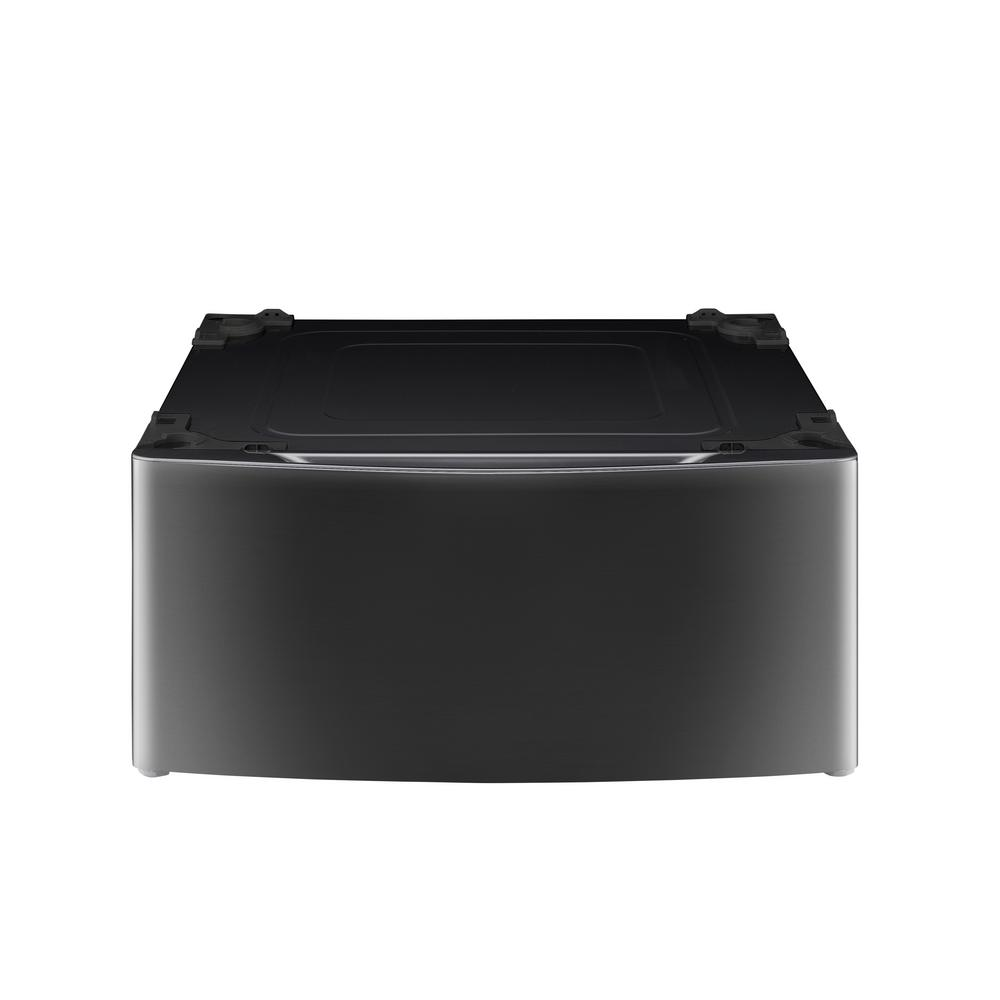 27 in. Laundry Pedestal with Storage Drawer in Black Stainless Steel