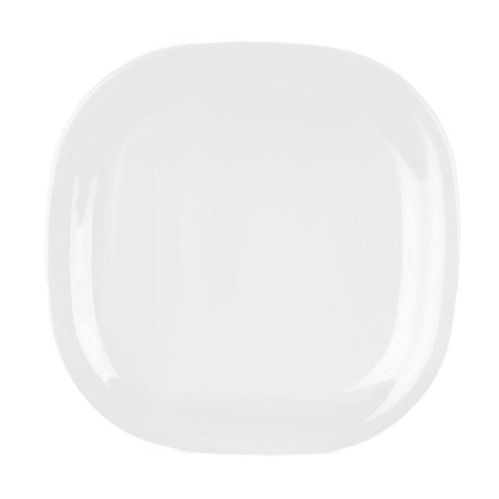 Restaurant Essentials Jazz 14 in. x 14 in. Round Square Plate in White (  sc 1 st  The Home Depot & Restaurant Essentials Jazz 14 in. x 14 in. Round Square Plate in ...