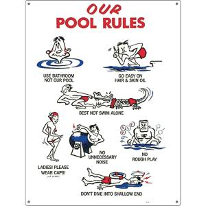 Poolmaster Residential Or Commercial Swimming Pool Signs Our Pool Rules Animation 41337 The