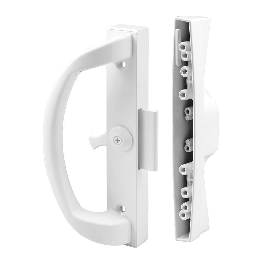 Prime-Line Clamp Type White Sliding Door Latch