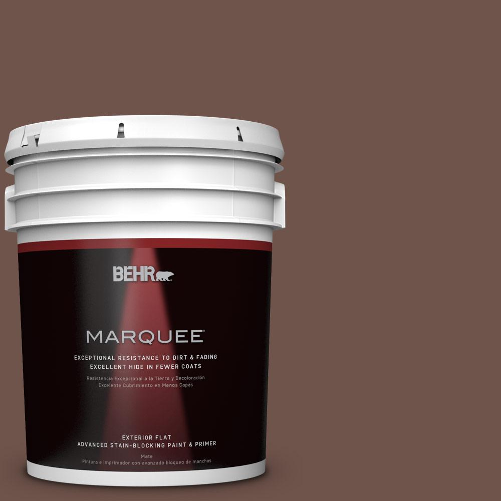 5-gal. #N150-6 Coffee Beans Flat Exterior Paint