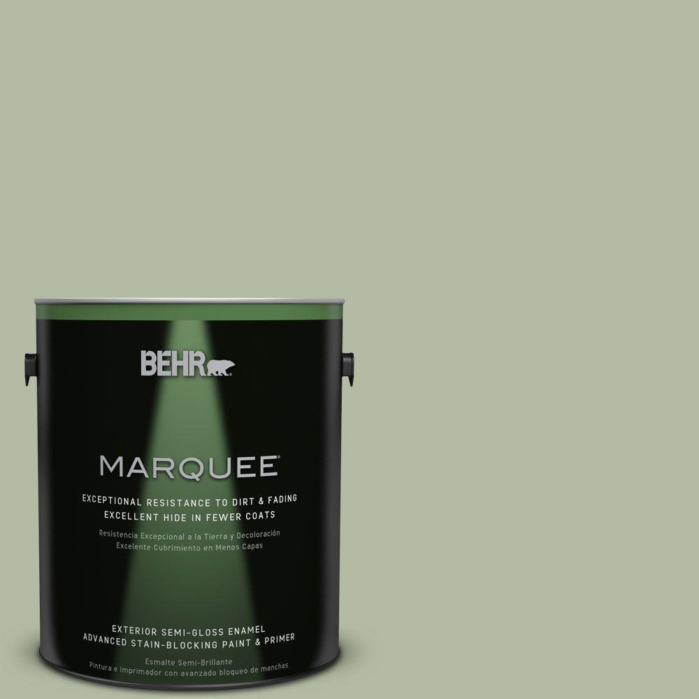 BEHR MARQUEE 1-gal. #ICC-105 Dried Chervil Semi-Gloss Enamel Exterior Paint
