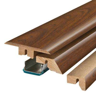 Peruvian Mahogany 3/4 in. Thick x 2-1/8 in. Wide x 78-3/4 in. Length Laminate 4-in-1 Molding