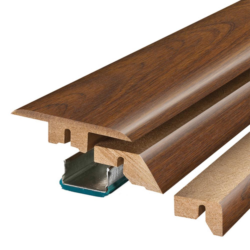 Pergo Peruvian Mahogany 3/4 in. Thick x 2-1/8 in. Wide x 78-3/4 in. Length Laminate 4-in-1 Molding
