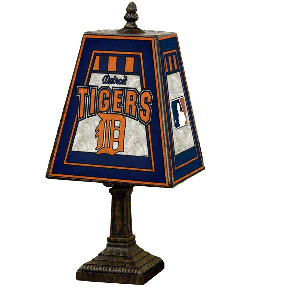 The Memory Company MLB 14 inch Art Glass Table Lamp - Detroit Tigers-DISCONTINUED