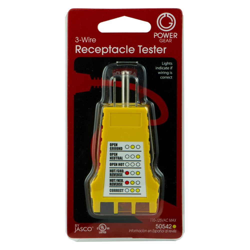 Power Gear 3-Wire Receptacle Tester on