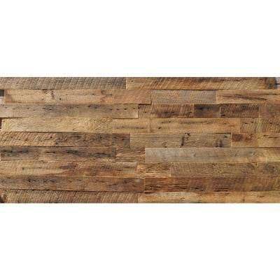 Reclaimed Barn Wood Brown 3/8 in. Thick x 3.5 in. Width x Varying Length Solid Hardwood Wall Plank (20 sq. ft./case)