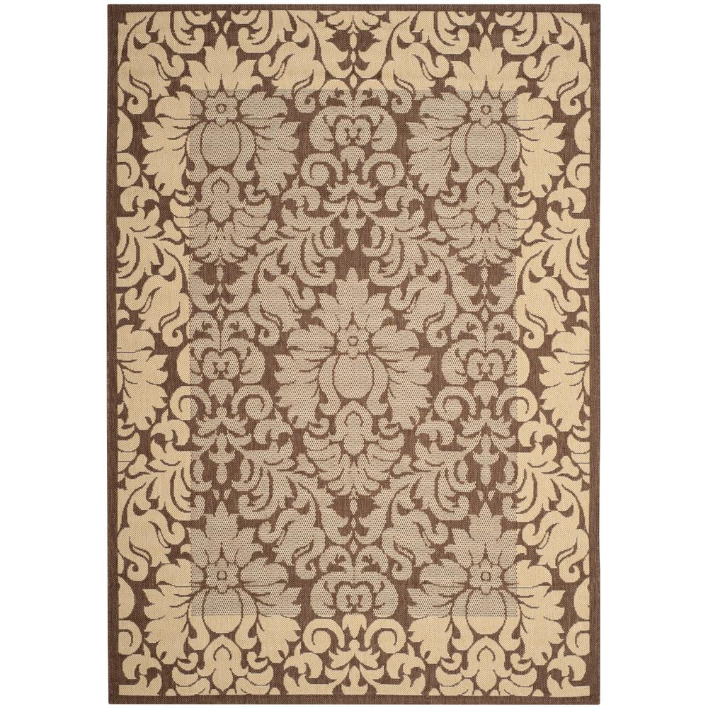Safavieh Courtyard Chocolate/Natural 4 ft. x 6 ft. Indoor/Outdoor ...
